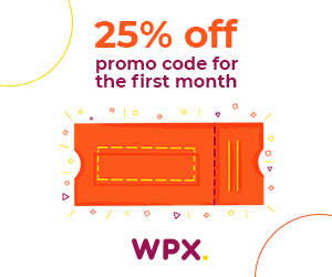 WPX hosting 25% off