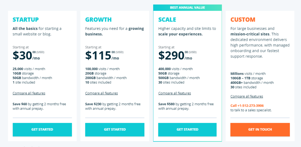 wp engine pricing for small and medium businesses